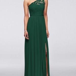 Lace shoulder floor length Dress